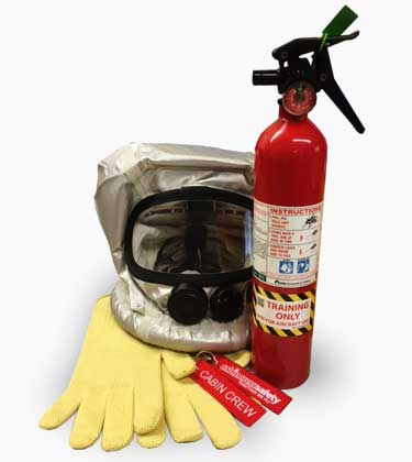 Aviation fire fighting training equipment