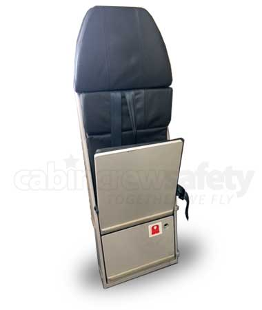 Airbus A340 leather crew jump seat