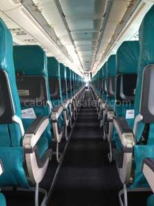 Airbus A320 passenger cabin