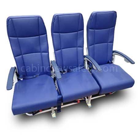 Commercial aircraft triple passenger seat, Zodiac Z100 model