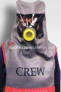 E28180-10 - Cabin Crew Safety Drager style training PBE smoke hood