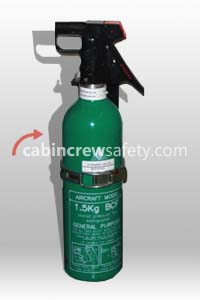 PHE23594-5 - Cabin Crew Safety Water fill training BCF fire extinguisher