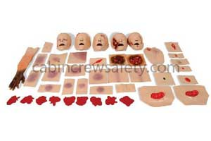 Burns Tenderness Lacerations Swelling BTLS Victim Injury Set for sale online