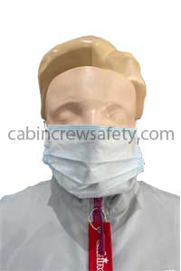 82000108 - Cabin Crew Safety Face Masks blue 3 ply surgical type 50 pack
