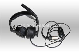 84000037 - Cabin Crew Safety Sennheisser Flight Crew Boom Microphone Headset