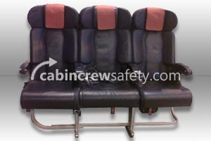 Triple Leather Aircraft Passenger Seats for sale online