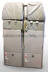 Airbus A320 Double Crew Jump Seat for sale online