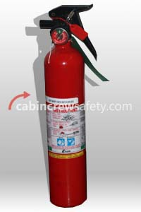 Aircraft BCF Halon Fire Extinguisher for sale online