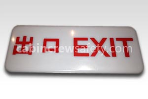 F1101385-28 - AirSigna Aircraft Emergency Exit Sign Lens