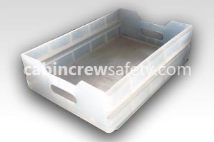 84000131 - Cabin Crew Safety Atlas aircraft service cart clear plastic drawer
