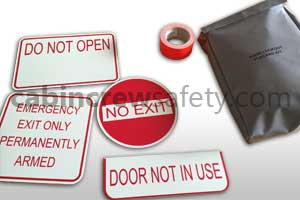 90000026 - Cabin Crew Safety Aircraft Door Inoperative Placard Kit