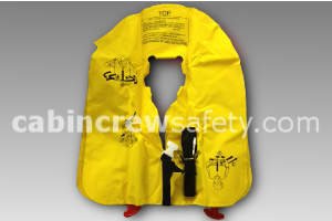 P01202-201WD - EAM UXF35 demo life vest with whistle