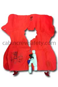 63600-501 - Air Cruisers Double Chamber Orange Crew Life Vest