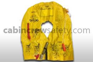 P01202-201W - Eastern Aero Marine UXF35 passenger life vest with whistle